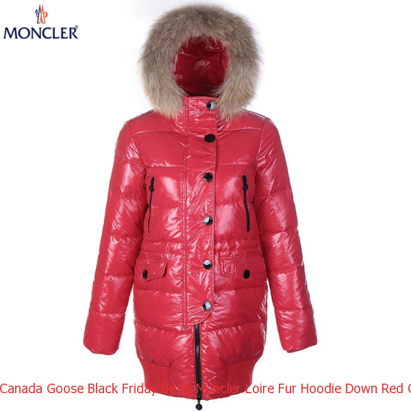 Canada Goose Black Friday Deals Moncler Loire Fur Hoodie Down Red Coat Women