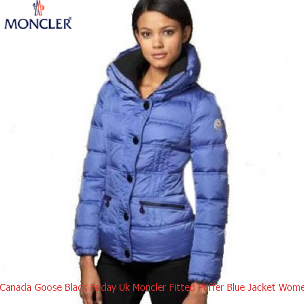 Canada Goose Black Friday Uk Moncler Fitted Puffer Blue Jacket Women