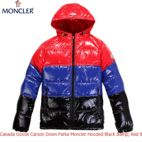 canada goose carson down parka moncler hooded black red blue rh cheapcanadagoose net