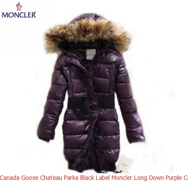 Canada Goose Chateau Parka Black Label Moncler Long Down Purple Coat Women