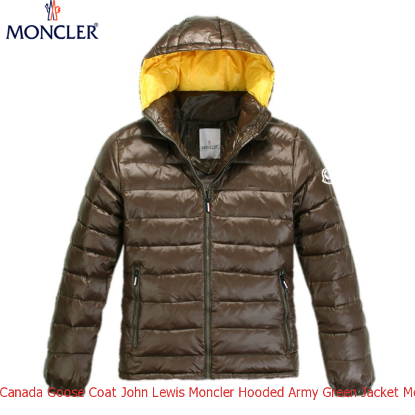 1551a72c0ced Canada Goose Coat John Lewis Moncler Hooded Army Green Jacket Men
