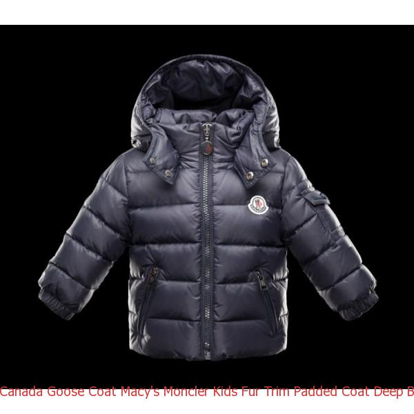 569c854a88b7 Canada Goose Coat Macy  s Moncler Kids Fur Trim Padded Coat Deep ...
