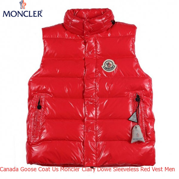 d3ba0948b Canada Goose Coat Us Moncler Clairy Dowe Sleeveless Red Vest Men ...