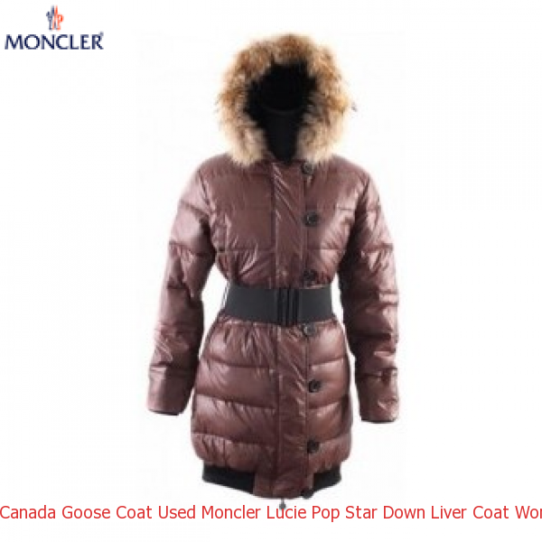 062ca0cea Canada Goose Coat Used Moncler Lucie Pop Star Down Liver Coat Women ...