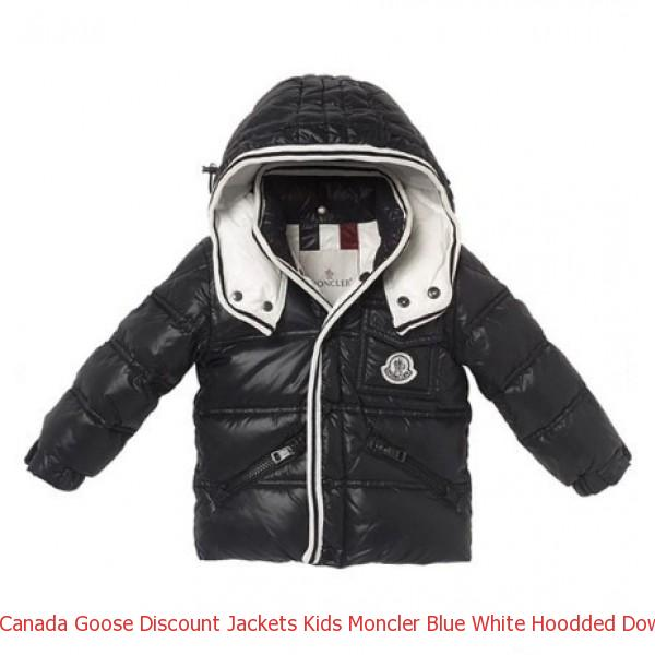 37531924920d Canada Goose Discount Jackets Kids Moncler Blue White Hoodded Down ...