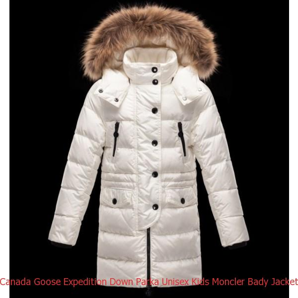 3d59d90e7caa Canada Goose Expedition Down Parka Unisex Kids Moncler Bady Jacket White