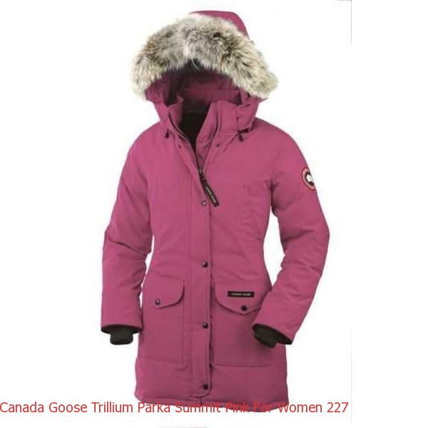 96b45df6d923 Canada Goose Jacket Outlet New York Canada Goose Trillium Parka Summit Pink  For Women