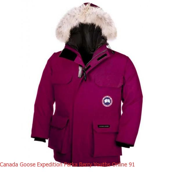 Canada Goose Jacket Youth Canada Goose Expedition Parka Berry Youth s Online 13f989a1cb62