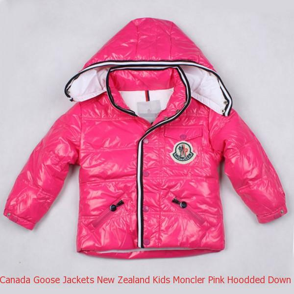 54cd90915897 Canada Goose Jackets New Zealand Kids Moncler Pink Hoodded Down ...