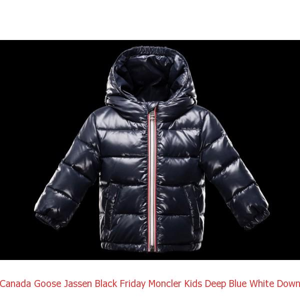 3c7ec16b50c Canada Goose Jassen Black Friday Moncler Kids Deep Blue White Down Jacket