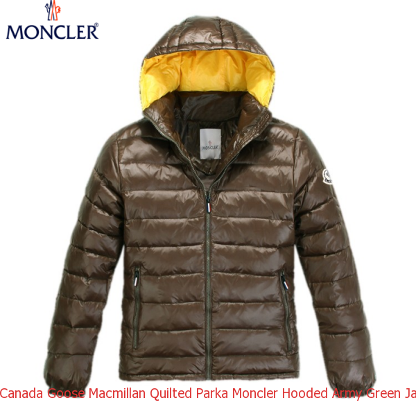 8b343a19d Canada Goose Macmillan Quilted Parka Moncler Hooded Army Green Jacket Men
