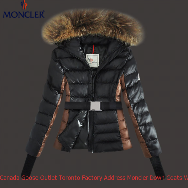 4d690dd3bccc Canada Goose Outlet Toronto Factory Address Moncler Down Coats Women Fur  Hooded Black Mc1566