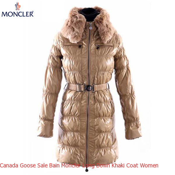 2c45c5510 Canada Goose Sale Bain Moncler Long Down Khaki Coat Women – Shop ...