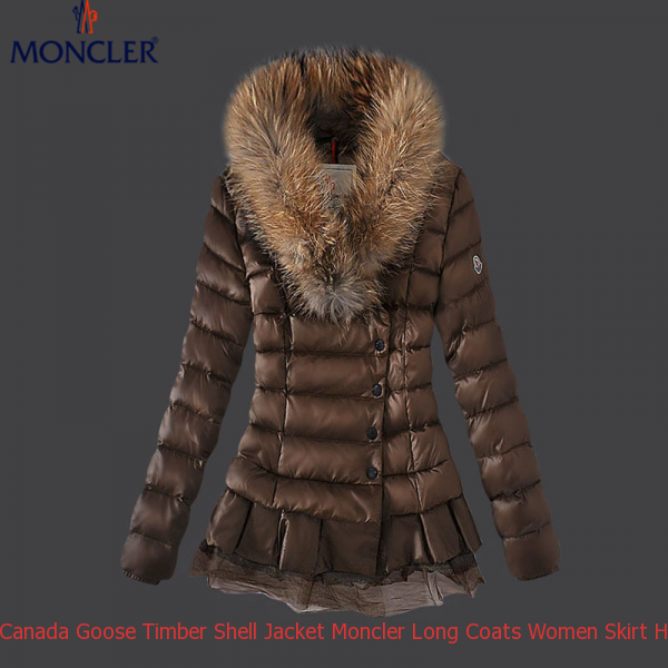 0b9280f7b Canada Goose Timber Shell Jacket Moncler Long Coats Women Skirt Hem ...