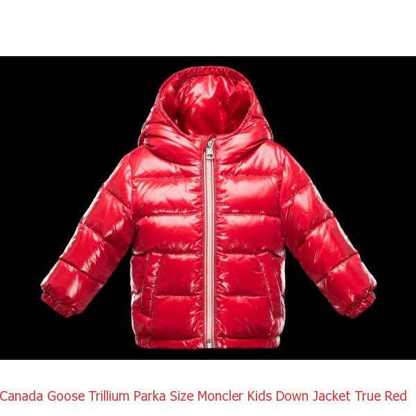 f5fb34ecf75c Canada Goose Trillium Parka Size Moncler Kids Down Jacket True Red ...