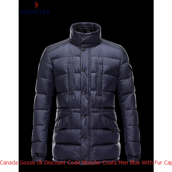 1a07d763762f Canada Goose Uk Discount Code Moncler Coats Men Blue With Fur Cap Mc1024