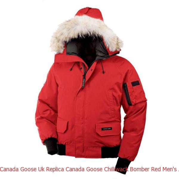 549fef5ce Canada Goose Uk Replica Canada Goose Chilliwack Bomber Red Men\'s Jackets