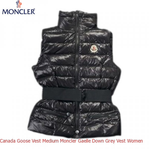 4868c20d4 Canada Goose Vest Medium Moncler Gaelle Down Grey Vest Women – Shop ...