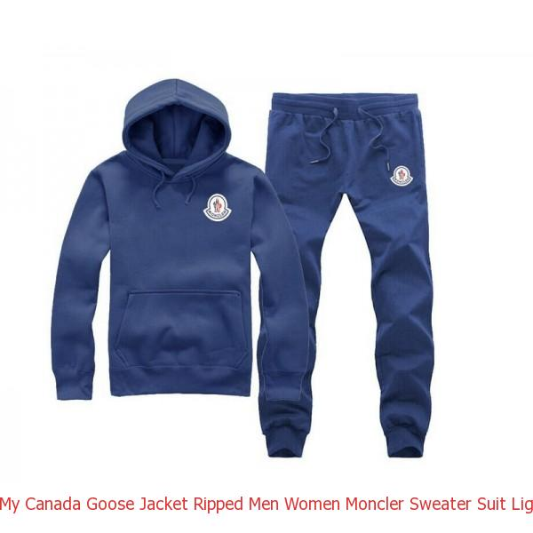 dbe1f6cdd9b1 My Canada Goose Jacket Ripped Men Women Moncler Sweater Suit Light ...