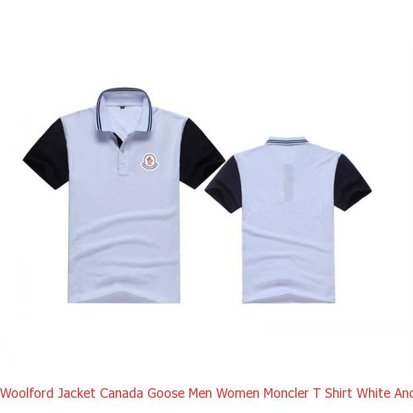 df02128fad2 Woolford Jacket Canada Goose Men Women Moncler T Shirt White And Black
