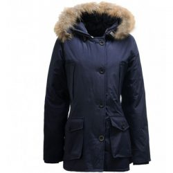 2018 Canada Goose Outlet Woolrich Arctic Parka Jacket In Blue Hot Sale