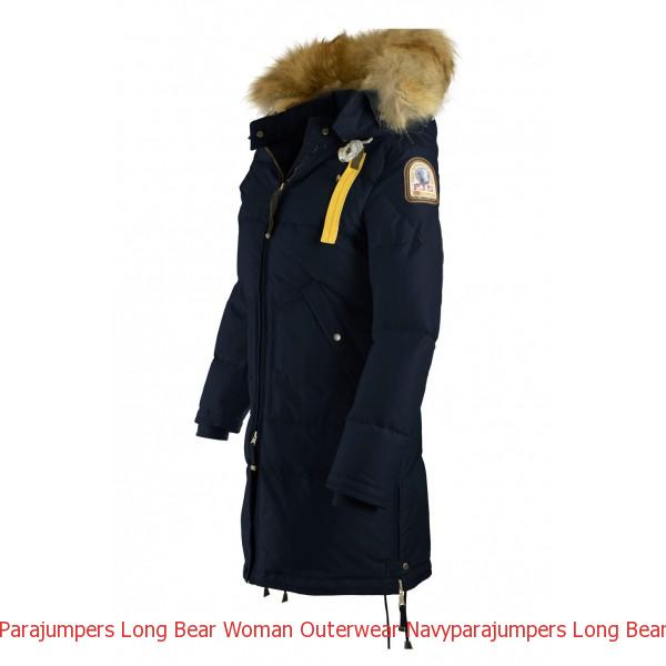 parajumpers long bear coat navy
