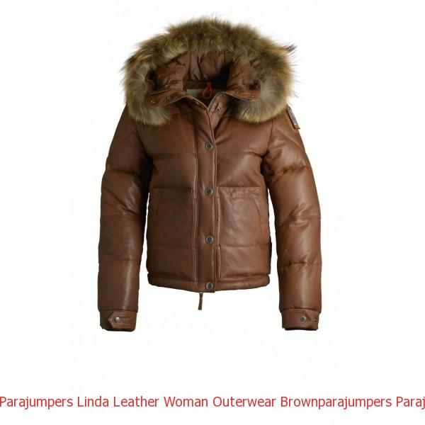 Canada Goose Outlet Edmonton Parajumpers Linda Leather Woman Outerwear Brown