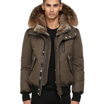 697c5c620 Canada Goose Outlet Store Nyc Mackage Men HARVEY-F4 DOWN BOMBER JACKET WITH  FUR HOOD Brown