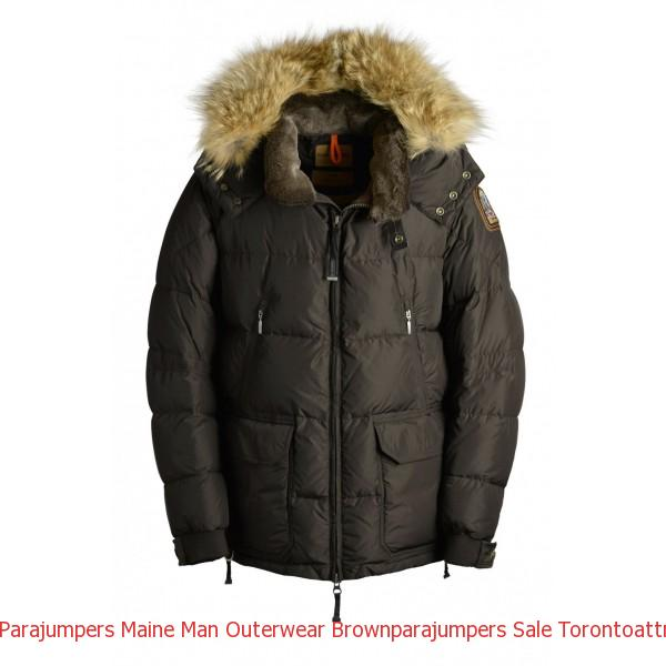 Canada Goose Sale Men's Parka Parajumpers Maine Man Outerwear Brown