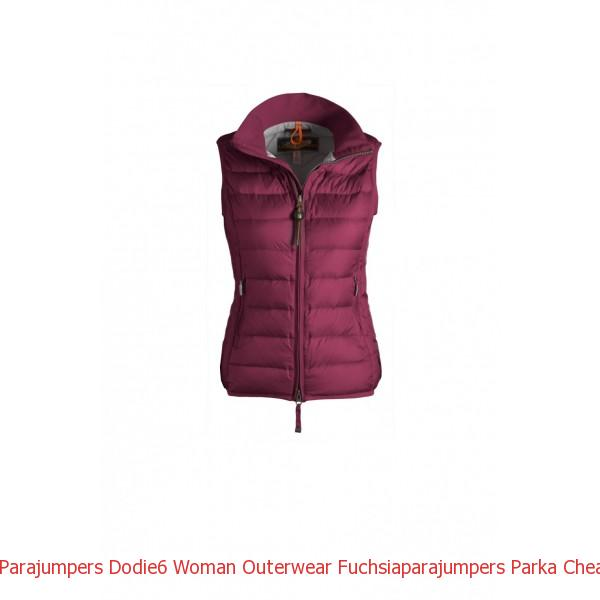 Canada Goose Vest White Parajumpers DODIE6 Woman Outerwear