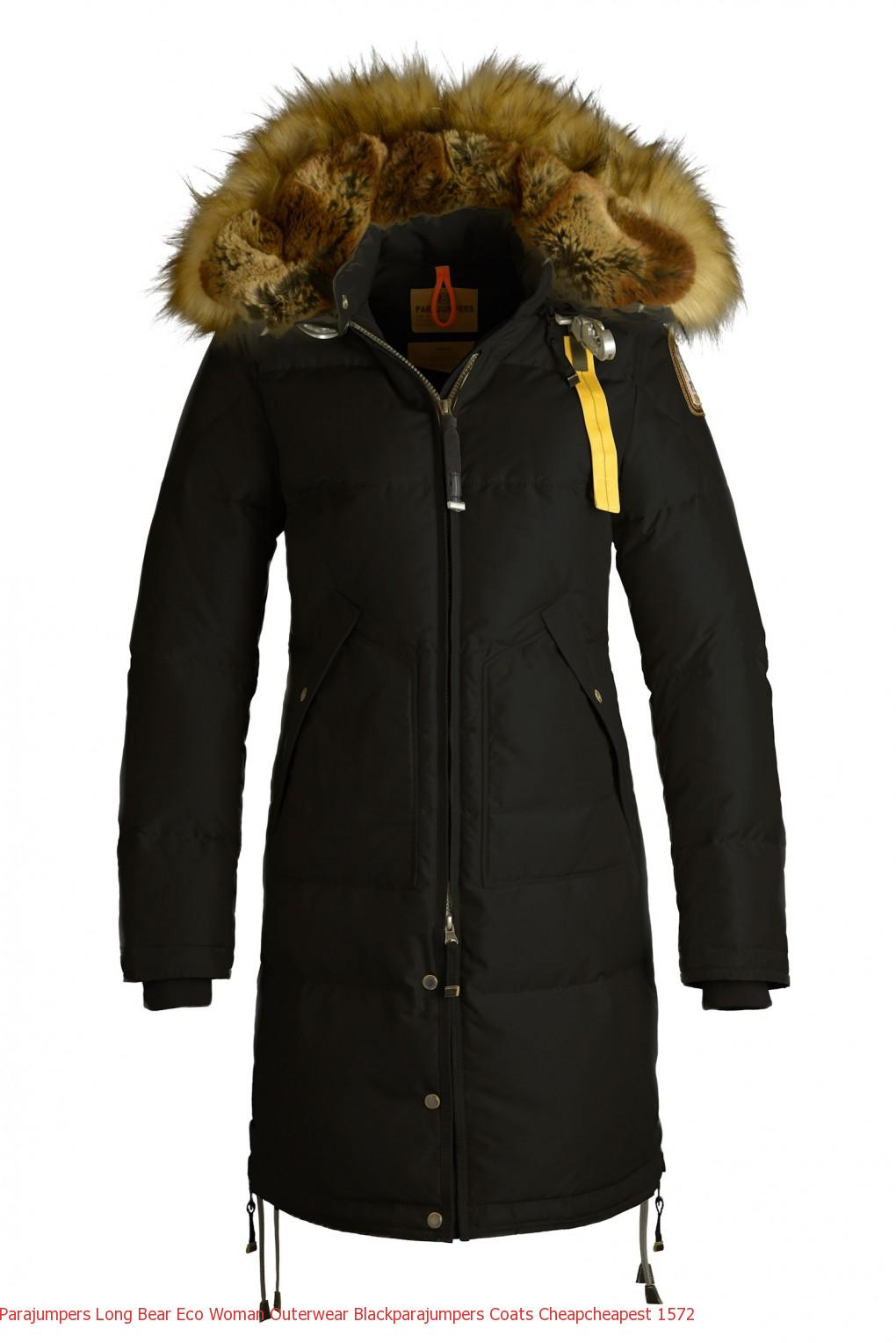 Is A Canada Goose Jacket Waterproof Parajumpers LONG BEAR ECO Woman Outerwear Black