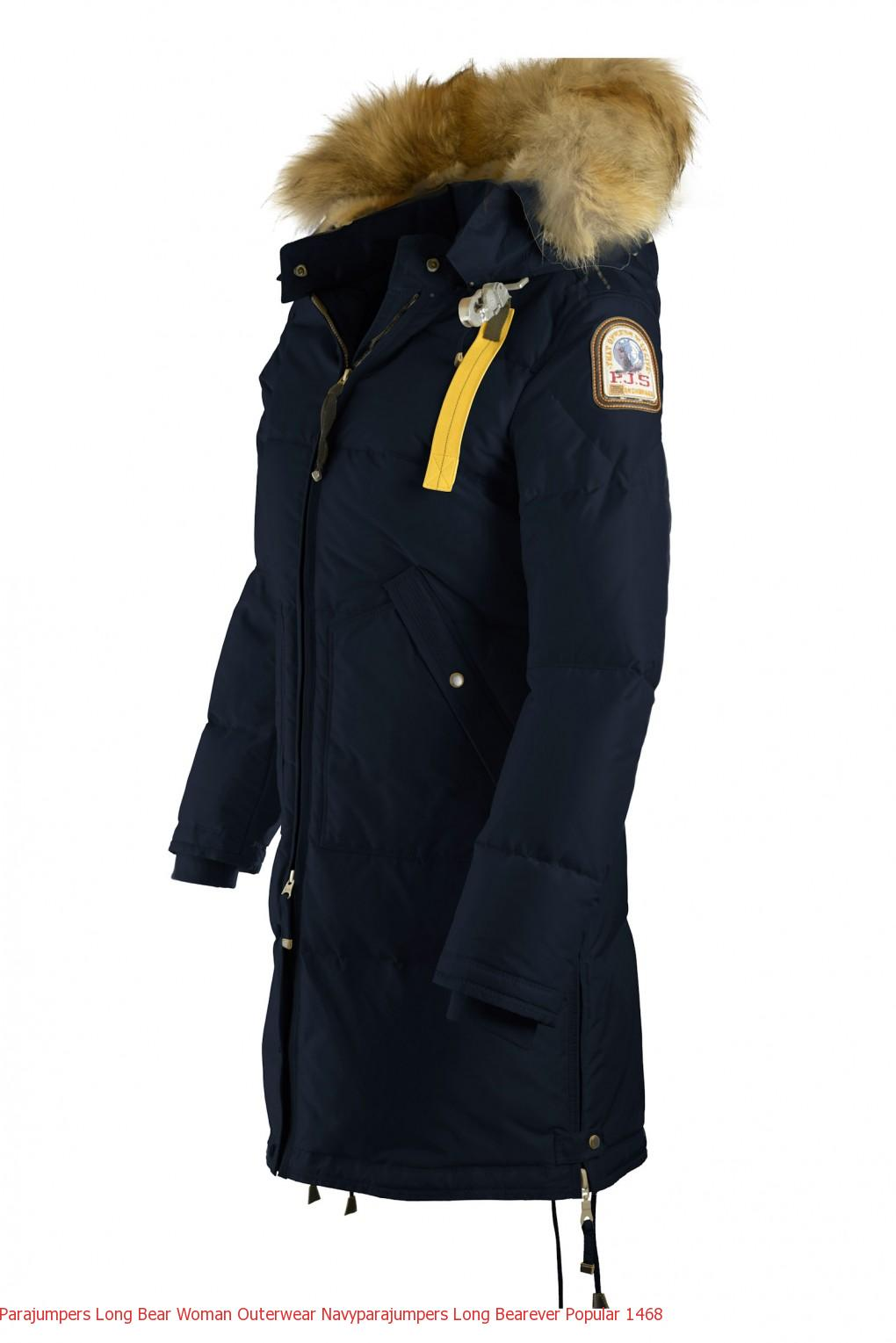 Parajumpers Long Bear Woman Outerwear Navyparajumpers Long Bearever Popular 1474