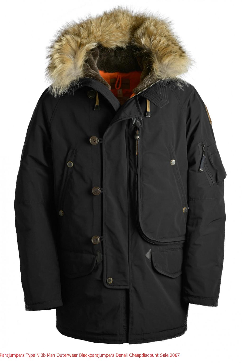 Canada Goose Outlet Gta Parajumpers TYPE N-3B Man Outerwear Black